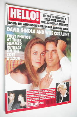 <!--1998-05-30-->Hello! magazine - David Ginola and wife Coraline cover (30