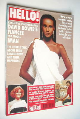 <!--1991-11-23-->Hello! magazine - Iman cover (23 November 1991 - Issue 179