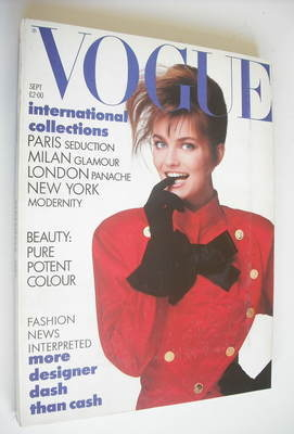 <!--1987-09-->British Vogue magazine - September 1987 - Paulina Porizkova c