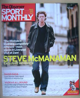 The Observer Sport Monthly magazine - Steve McManaman cover (March 2001)