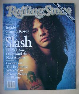 Rolling Stone magazine - Slash cover (24 January 1991 - Issue 596)