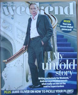 <!--2012-09-22-->Weekend magazine - Andrew Lloyd Webber cover (22 September 2012)