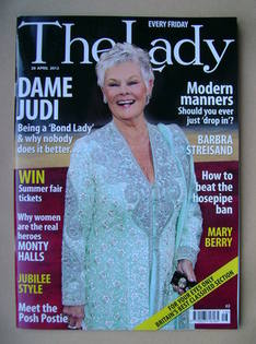 <!--2012-04-20-->The Lady magazine (20 April 2012 - Dame Judi Dench cover)
