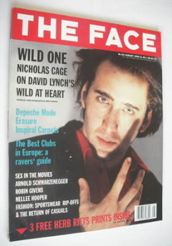 The Face magazine - Nicholas Cage cover (August 1990 - Volume 2 No. 23)