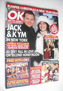 <!--2003-12-30-->OK! magazine - Jack and Kym Ryder cover (30 December 2003