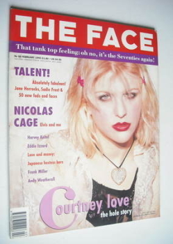 The Face magazine - Courtney Love cover (February 1993 - Volume 2 No. 53)