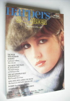 British Harpers & Queen magazine - October 1980