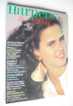 British Harpers & Queen magazine - July 1980