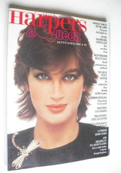 British Harpers & Queen magazine - September 1980 - Amanda Pays cover
