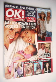 OK! magazine - Fern Britton and Phil Vickery cover (5 October 2001 - Issue 284)