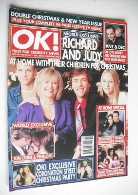 <!--2001-12-21-->OK! magazine - Richard Madeley and Judy Finnigan and famil