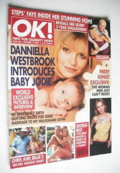 OK! magazine - Danniella Westbrook cover (12 October 2001 - Issue 285)