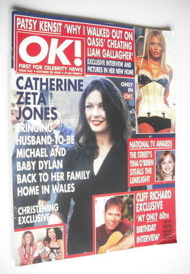 <!--2000-10-20-->OK! magazine - Catherine Zeta Jones cover (20 October 2000