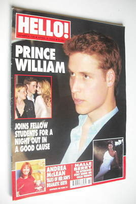 <!--2002-04-09-->Hello! magazine - Prince William cover (9 April 2002 - Iss