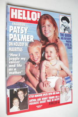 <!--2002-05-14-->Hello! magazine - Patsy Palmer cover (14 May 2002 - Issue