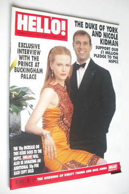 <!--1999-10-12-->Hello! magazine - Nicole Kidman and Prince Andrew cover (1