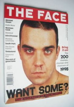 The Face magazine - Robbie Williams cover (January 1999 - Volume 3 No. 24)