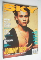 <!--1990-06-->Sky magazine - Johnny Depp cover (June 1990)