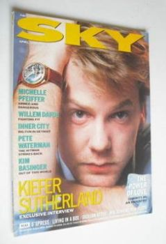 Sky magazine - Kiefer Sutherland cover (April 1989)