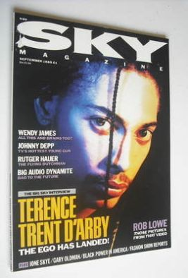 <!--1989-09-->Sky magazine - Terence Trent D'Arby cover (September 1989)