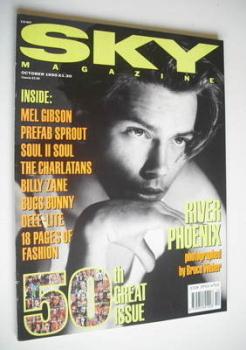 Sky magazine - River Phoenix cover (October 1990)