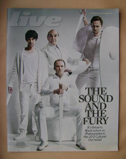 Live magazine - Ben Whishaw, David Suchet, Rory Kinnear, Tom Hiddleston cover (3 June 2012)