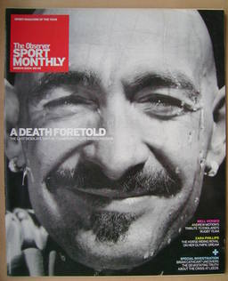 The Observer Sport Monthly magazine - Marco Pantani cover (March 2004)