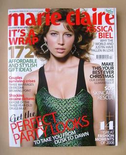 <!--2008-12-->British Marie Claire magazine - December 2008 - Jessica Biel