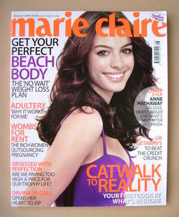 <!--2008-08-->British Marie Claire magazine - August 2008 - Anne Hathaway c
