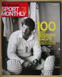 The Observer Sport Monthly magazine - Ian Botham cover (February 2001)