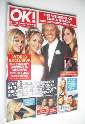 <!--2005-10-25-->OK! magazine - Samia Ghadie and Matt Smith wedding cover (