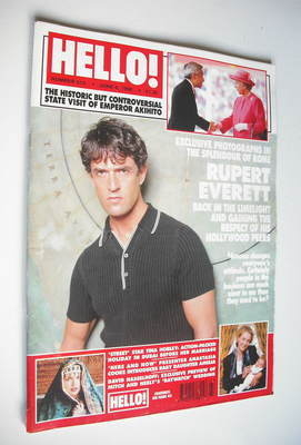 <!--1998-06-06-->Hello! magazine - Rupert Everett cover (6 June 1998 - Issu
