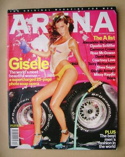 <!--2000-12-->Arena magazine - December 2000 - Gisele Bundchen cover