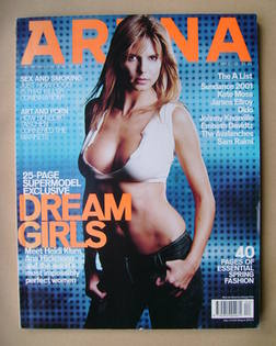 <!--2001-04-->Arena magazine - April 2001 - Heidi Klum cover