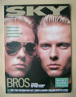 <!--1988-12-->Sky magazine - Luke Goss and Matt Goss cover (Christmas 1988)
