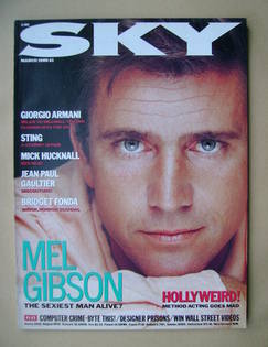 Sky magazine - Mel Gibson cover (March 1989)