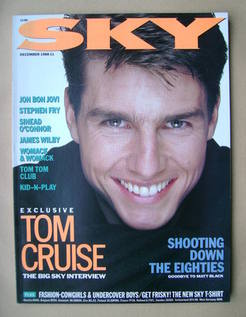 Sky magazine - Tom Cruise cover (December 1988)