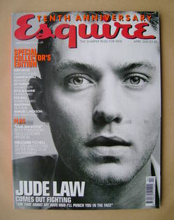 <!--2001-04-->Esquire magazine - Jude Law cover (April 2001)