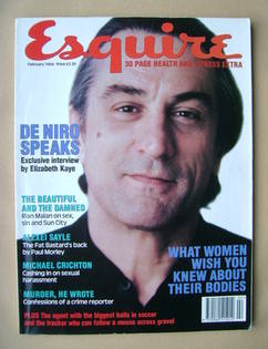 Esquire magazine - Robert De Niro cover (February 1994)