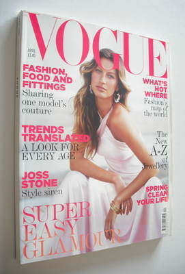 <!--2005-04-->British Vogue magazine - April 2005 - Gisele Bundchen cover