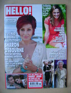 <!--2012-11-12-->Hello! magazine - Sharon Osbourne cover (12 November 2012