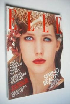 British Elle magazine - March 1986 - Cecilia Chancellor cover