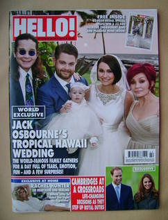 <!--2012-10-22-->Hello! magazine - Jack Osbourne Wedding cover (22 October