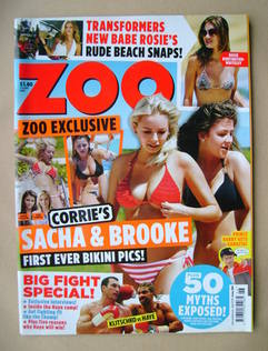 <!--2011-07-01-->Zoo magazine - Sacha Parkinson and Brooke Vincent cover (1
