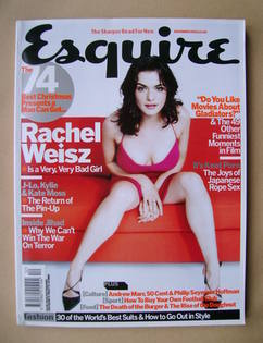 <!--2003-12-->Esquire magazine - Rachel Weisz cover (December 2003)