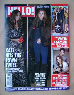 <!--2012-11-19-->Hello! magazine - Kate Middleton cover (19 November 2012 -