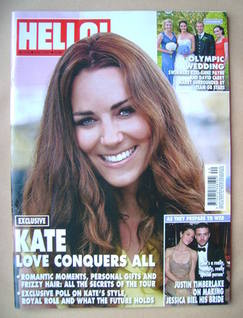 <!--2012-10-08-->Hello! magazine - Kate Middleton cover (8 October 2012 - I