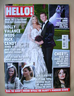<!--2012-10-15-->Hello! magazine - Holly Valance and Nick Candy Wedding cov