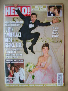 <!--2012-11-05-->Hello! magazine - Justin Timberlake and Jessica Biel Weddi