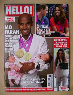 <!--2012-09-10-->Hello! magazine - Mo Farah cover (10 September 2012 - Issu